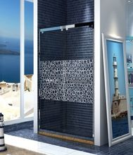 puerta de la ducha granero marco de acero inoxidable