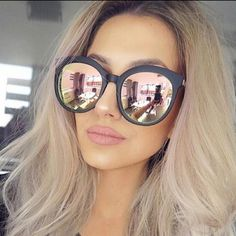Cheap brand sunglases, Buy Quality sunglases brand directly from China sun glasses female Suppliers: Men Luxury Brand Sunglasses Round Couple Pink Sunglasses Women 2017 Driving Sun Glasses Female Lunette Femme Sunglases Rose Gold Sunglasses Women 2017, Pink Sunglasses, Cat Eye Sunglasses, Round Sunglasses, Mirrored Sunglasses, Vintage Sunglasses, Luxury Sunglasses, Sunnies, Colored Hair