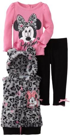 Amazon.com: Disney Baby-Girls Infant 3 Piece Minnie Mouse Printed Vest Set: Clothing 27.00 amazon.com