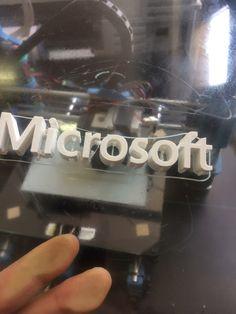 Stampa 3d, scritta PLA Flip Clock, Microsoft, Decor, Decoration, Decorating, Deco
