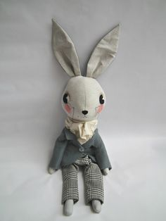Handmade Bunny from Cloth & Thread