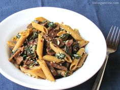 Quick Italian Sausage & Spinach Penne | 15-minute meal!