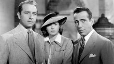 Casablanca (1942) Paul Henreid, Ingrid Bergman and Humphrey Bogart.