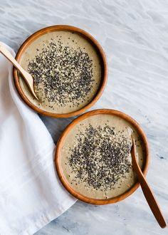 Strawberries n' Cream Smoothie Bowl with Chia, Hemp + Flaxseed