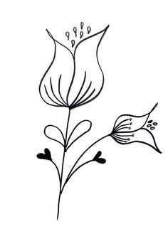 Lettering- Line drawing- Motivation: How to draw flowers 39