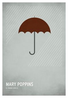 Mary Poppins / 19 Minimalistic Posters Of Your Favorite Childhood Stories by Christian Jackson (via BuzzFeed)