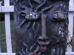 detail, garden cement sculptures, exterior use, made by Alexandra Higgins, 2012