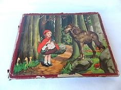 Vintage Little Red Riding Hood & Wolf Fairy Tale by ourtimecapsule, $12.00