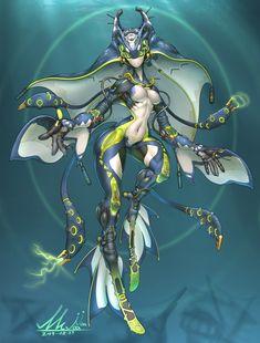 Diver Gynoid by yoon sung hwanpersonal sci-fi work Monster Concept Art, Alien Concept Art, Creature Concept Art, Creature Design, Alien Character, Cyberpunk Character, Character Concept, Character Art, Chica Alien