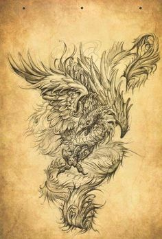Discover thousands of images about phoenix draw, tattoo design Tattoo Drawings, Body Art Tattoos, Sleeve Tattoos, Cool Tattoos, Backpiece Tattoo, Hannya Tattoo, Phoenix Bird Tattoos, Phoenix Tattoo Design, Tatouage Delta