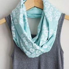 Leopard Scarf White Mint, $28, now featured on Fab.