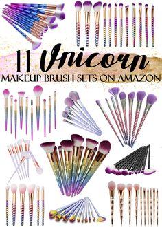 11 Affordable Unicorn Makeup Brush Sets on Amazon
