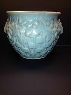 Baby Blue --Quilted McCoy Vintage Jardiniere In 8.5-10 Condition------WOW
