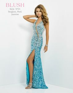 Glittering stones on this fabulous prom dress by Blush Prom. Prom 2014