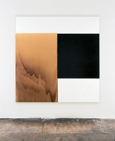 CALUM INNES  Exposed Painting Charcoal Grey, Yellow Oxide  Oil on canvas | 207.5 x 202.5 cm