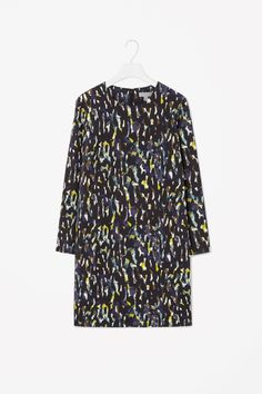Printed wool dress
