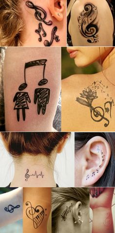 Music Tattoo Designs, Music Tattoos, Body Art Tattoos, Tribal Tattoos, Tatoos, Tatto Images, Geniale Tattoos, Instruments, Deathly Hallows Tattoo