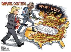 New based Ben Garrison cartoon. Damage control. : The_Donald
