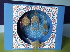 Diarama Card made with Stampin' Up! Moroccan Nights stamp en paper