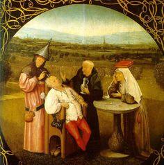 La extracción de la piedra de la locura. Hieronymus Bosch. 1494. Localización: Museo Nacional del Prado (Madrid). https://painthealth.wordpress.com/2016/03/14/la-extraccion-de-la-piedra-de-la-locura-2/