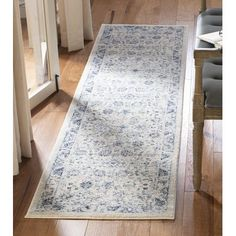 Safavieh Charleston Sigrid Vintage Boho Oriental Rug x Runner - Ivory/Blue) Floral Area Rugs, Beige Area Rugs, Casual Home Decor, Traditional Area Rugs, Oriental Pattern, Blue Area, Online Home Decor Stores, Outdoor Rugs, Rugs Online