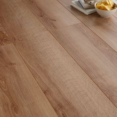 Colours Brown Natural Oak Effect Laminate Flooring Pack: Image 1 Wooden Flooring, Laminate Flooring, Hardwood Floors, Underfloor Heating, Colour Schemes, New Kitchen, Plank, New Homes, Diy Projects