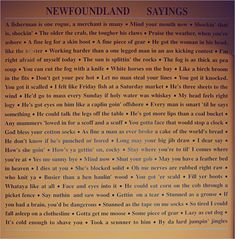 Newfoundland Sayings - - working harder than a one legged man in a ass kicking contest.