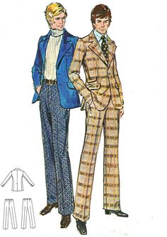 1970s Mens Suit Pattern Butterick 6425 Two Piece by paneenjerez, $16.00