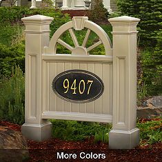Winchester Address Sign, great idea to see your house address #'s from the street...