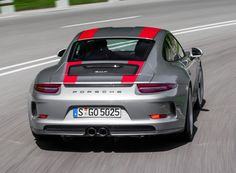 Porsche 911 R Worldwide (991) '2016 grey and red stripes
