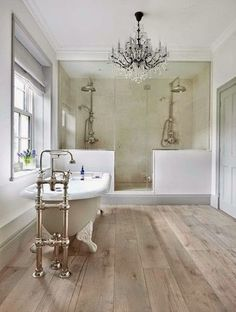 Swoon Worthy Bathrooms To Inspire A Renovation Apartment Therapy Small Bathroom Wood Floor