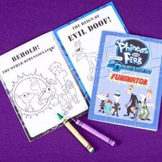 Help Phineas and Ferb decode messages, navigate a maze, and color the Evil Doof!