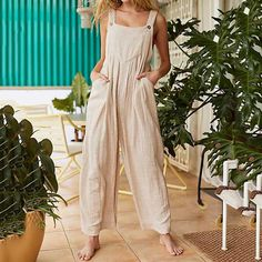 Product Women's pure color strap jumpsuits Brand Name Naychic Gender Women Item Type jumpsuits Style Fashion Occasion Daily life/Date Material Decoration Pure color Length Long Please dimensions are measured manua New Trend Dress, Wedding Dress Patterns, Casual Jumpsuit, Dress Silhouette, Dress Brands, Evening Dresses, Fashion Outfits, Style Fashion, Pure Products