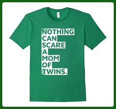 Mens Nothing Can Scare A Mom Of Twins Funny Mother's Day T-Shirt Small Kelly Green - Holiday and seasonal shirts (*Amazon Partner-Link)