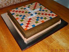 Scrabble Board Cake - by Maureen