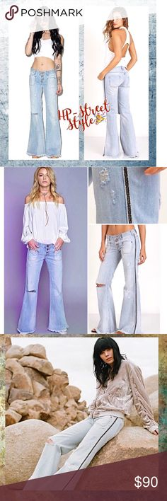 One Teaspoon Florence Let Cat Flares, NWT Retro Flares l They run large in my opinion. Feel free to ask for measurements One Teaspoon Jeans