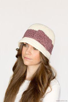 Downton Abbey Inspired Cloche Hat Crochet Pattern