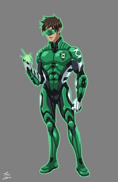 Aclipes Green Lantern commission by phil-cho on DeviantArt Green Lantern Hal Jordan, Green Lantern Corps, Superhero Characters, Dc Characters, Power Rangers, Green Lantern Costume, Arte Dc Comics, Superhero Design, Marvel Vs