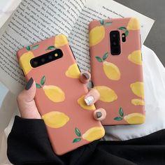 Lemon Peach Cute Phone Case For Galaxy Plus Note 8 Note 9 Plus Girly Phone Cases, Phone Cases Samsung Galaxy, Cool Iphone Cases, Cell Phone Covers, Celular J4, Wallpaper S8, Galaxy Wallpaper, Korean Phones, Capas Samsung