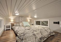 King Bedroom Loft - Kate by Tiny House Building Company
