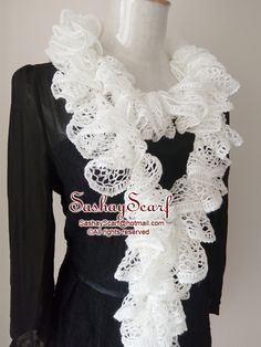 27.00$  Watch now - http://vihze.justgood.pw/vig/item.php?t=bwvzio52883 - White Crochet Scarf, Crochet Ruffle Scarf, Crochet Scarf, Ready to Ship, Ruffle Scarf, Womans Crochet Scarf, Fashion Scarf, Handmade Scarf, Frilly Scarf, Sequins Scarf, Sashay Scarf, Gift for her, Birthday Gift, 27.00$