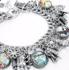 Tinkerbell Charm Bracelet - Peter Pan Bracelet - Peter Pan Jewelry