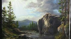 Oil painting sunlight across a cliff face, landscape with Kevin Hill. Using many techniques for landscape painting, this large cliff painting is created with. Oil Painting Lessons, Acrylic Painting Techniques, Painting Videos, Art Techniques, Kevin Hill Paintings, Simple Oil Painting, Simple Watercolor, Photography Gallery, Landscape Paintings