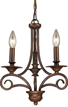 Elk Lighting 15041-3 Gloucester 3-Light Chandelier In Antique Bronze #lighting #lights