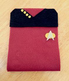 Felt Star Trek tablet sleeve