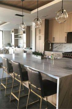 Examples of Luxury Kitchen Design to Inspire You ~ Home Design Ideas Home Decor Kitchen, New Kitchen, Kitchen Dining, Kitchen Ideas, Eclectic Kitchen, Kitchen Layout, Country Kitchen, Small Condo Kitchen, Island Kitchen