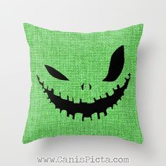 1 Oogie Boogie Man Before Christmas Throw Pillow 16x16 Graphic Print Cover Halloween Autumn Fall Pumpkin Orange Green Sack Horror Monster by CanisPicta on Etsy https://www.etsy.com/listing/163455159/1-oogie-boogie-man-before-christmas