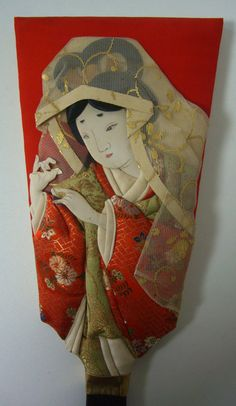 Oshi-e hagoita, vintage Japanese New Year's wooden paddle  from Styled in Japan  https://www.etsy.com/shop/StyledinJapan