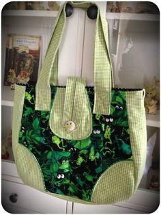 Nähen, nähen, nähen: Eine froschige Tasche... by #allerlieblichst