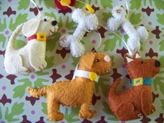 """Baby Mobile - Baby Crib Mobile - Dog Mobile - Nursery Baby Room """"Woof Woof"""" (You can pick your colors) Baby Mobile Felt, Baby Crib Mobile, Baby Cribs, Baby Presents, Baby Gifts, Dog Nursery, Wooly Bully, Felt Dogs, Baby Puppies"""